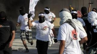 Anti-government protesters in Bahrain. Photo: 4 September 2012