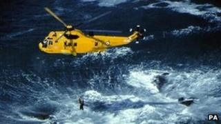 RAF search and rescue Sea King helicopter