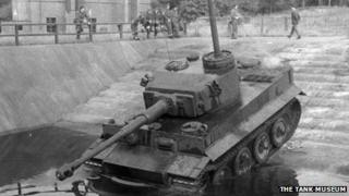 A Tiger tank in action