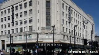Debenhams on Market Street in Manchester