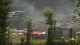 Ynysboeth Infants School destroyed by fire