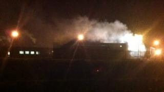Fire at former Gallahers factory