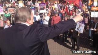 Lord Prescott at the rally