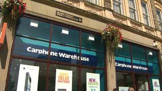 Carphone Warehouse in Cardiff city centre