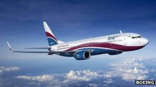 An Arik Air plane in flight