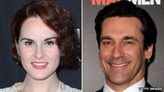 Michelle Dockery and John Hamm