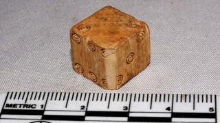 Roman dice made of ivory