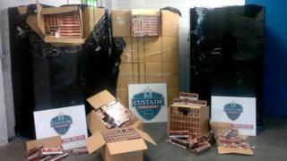 Contraband cigarettes seized at Dublin Port