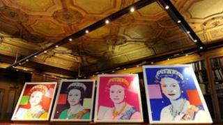 Four Andy Warhol portraits of Queen Elizabeth II in Windsor Castle