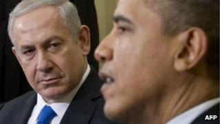 Israel Prime Minister Benjamin Netanyahu and US President Barack Obama on 5 March 2012