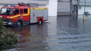 Floods in Truro in 2011