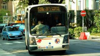 Electric bus in Italy