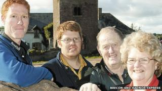 The Jones family from Talgarth, near Brecon