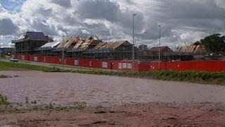 Flooded land near Cranbrook