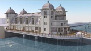 Artist's impression of the refurbished Penarth pier pavilion