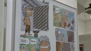 Exhibition of Indonesian and German comics at the Goethe Institute in Jakarta, September 2012