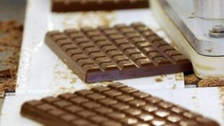 Generic picture of chocolate being made