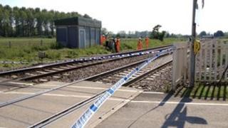 The scene of the crash at Ufton Nervet