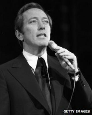 Andy Williams, pictured in 1970