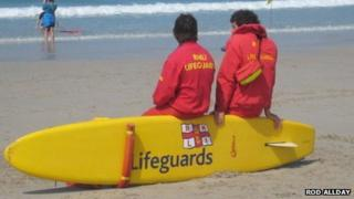 RNLI beach lifeguards in Cornwall