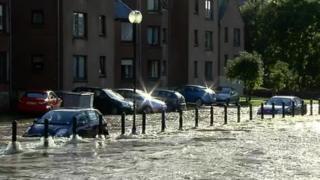 Flooding in Peebles