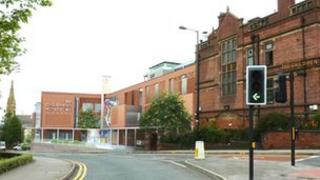 Artist's impression of outside of The Children's Hospital, Sheffield
