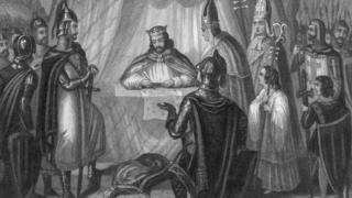 King John seals the first of a series of documents that came to be known as the Magna Carta