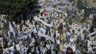 Sipah-e-Sihaba protest in Karachi on 21 September 2012