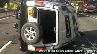 4x4 following accident on M40