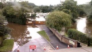 Caravan park flooded in Stamford Bridge