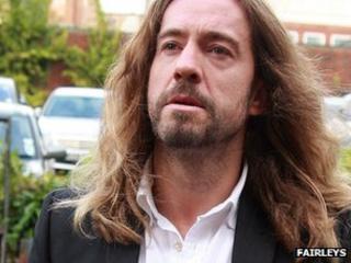 Justin Lee Collins arriving at St Albans Crown Court