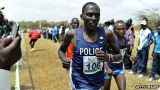 Mathew Kisorio running in February 2011