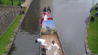 Canal boat theatre in Nottingham