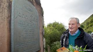 Richard Noble at John Cobb memorial