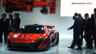 The new McLaren P1 on show