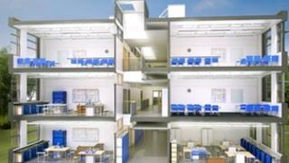 Blueprint of new secondary school in England