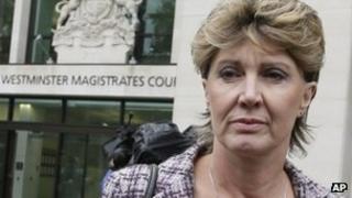 Det Ch Insp April Casburn leaving Westminster Magistrates' Court (1/10/12)