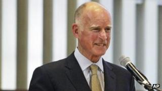 California Governor Jerry Brown in Beverly Hills, California 26 September 2012