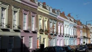 Victorian terraced houses in Camden Town, north London