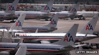 American Airlines planes at Miami International Airport on 25 September 2012
