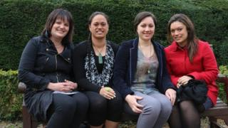 Vicki Exeter, Stacey Reriti-Smith, Piata Allen and Nichola McCall