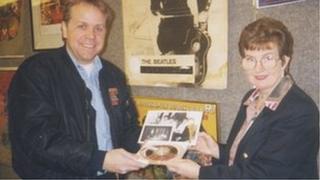 Irene Draper with Beatles recording