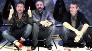 Damon Albarn, ENO director John Berry and Rufus Norris