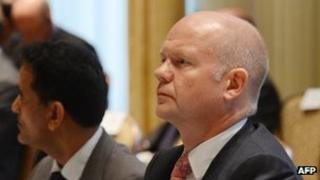 William Hague at the UN in New York
