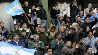 Protesters in Buenos Aires. Photo: 3 October 2012