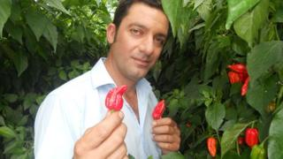 Salvatore Genovese with the Bedfordshire Super Naga