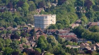 Gas holder in Oxted