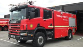 Edinburgh Airport fire engine