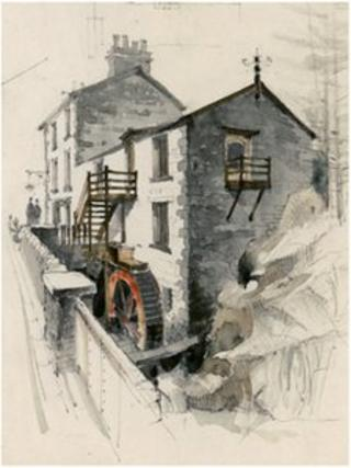 Moelwyn Mill, Tan y Grisiau © Crown copyright: Royal Commission on the Ancient and Historical Monuments of Wales: Falcon Hildred Collection