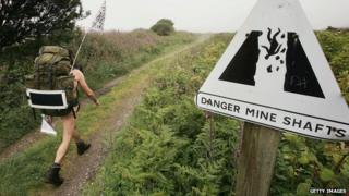 Naked rambler in Cornwall